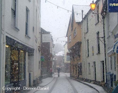 Fore Street in Snow (Permission Doreen Daniels)