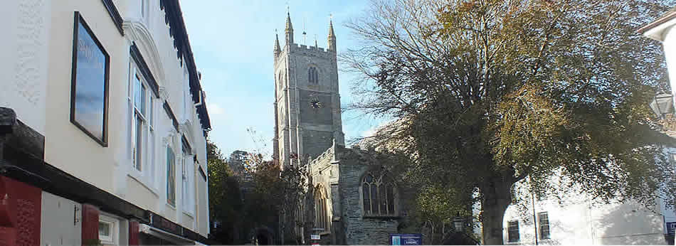 The Parish Church at Fowey
