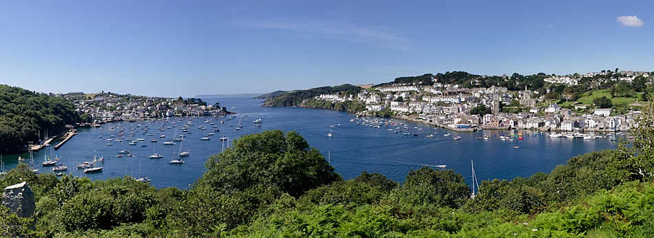 Fowey Estuary looking out to sea (photo by kind permission of Paul Jenkins)